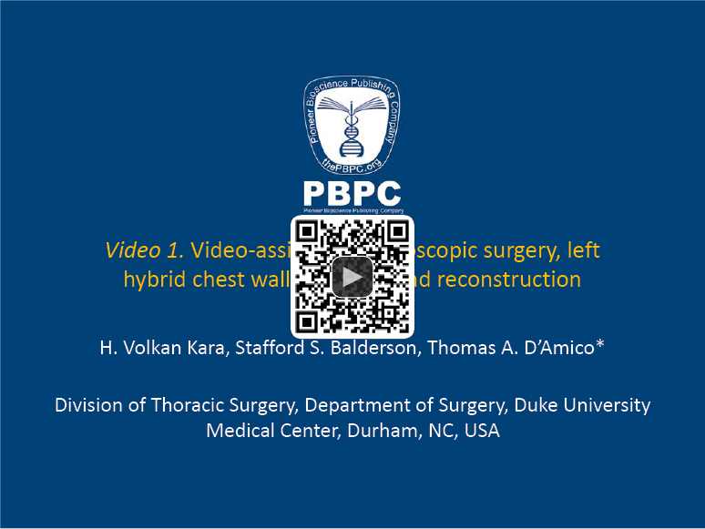 Challenging cases: thoracoscopic lobectomy with chest wall