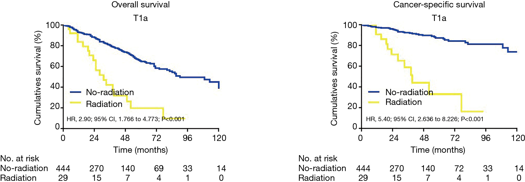 The influence of adjuvant radiation therapy after endoscopic