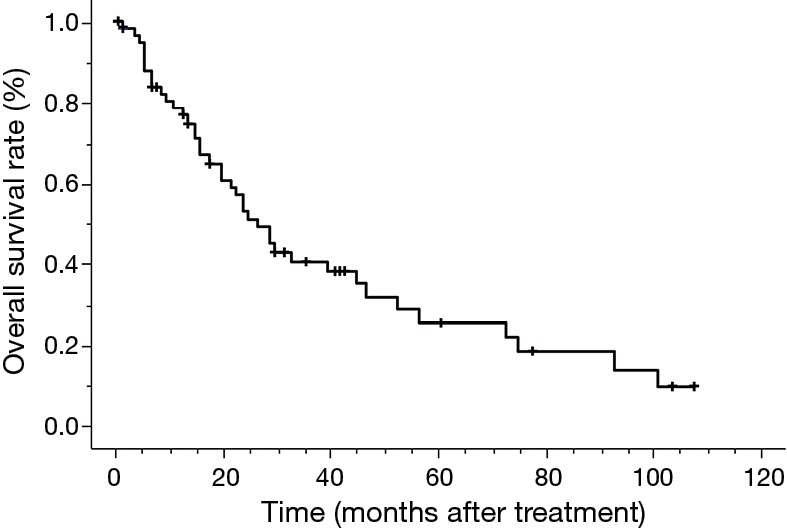 Treatment outcomes of patients with small cell lung cancer